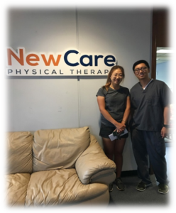 Dr. Shin and 2-time LPGA Champion, Ji-Young Oh after her Physical Therapy.